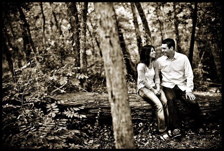 rock creek park engagement shoot