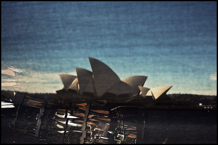 sydney australia opera house obscured