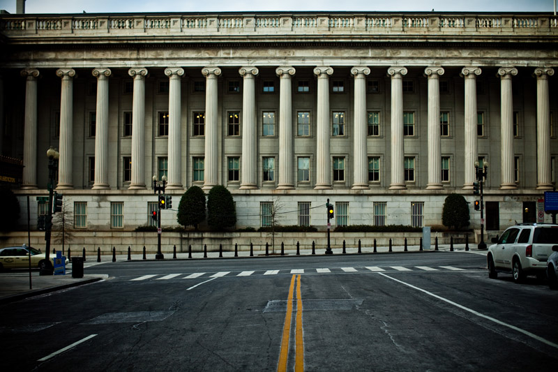 department of treasury building dc